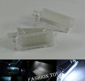 4x Error Free WHITE 18 LED LIGHT FOOTWELL F&R For skoda Octavia Mk3 5E 2012-2017