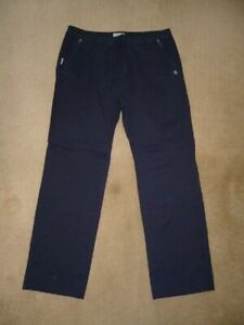 NEW Ladies Gorgeous CRAGHOPPER Navy Blue Stretch Walking Trousers - Size 18