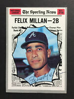 Felix Millan Braves Signed 1970 Topps Baseball Card #452 Auto Autograph