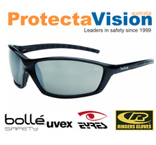 New - Bolle Prowler - Silver Flash Safety Glasses - Sunglasses