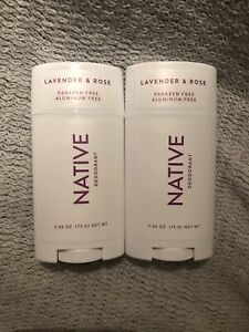 2 Native Lavender and Rose Deodorant - 2.65oz