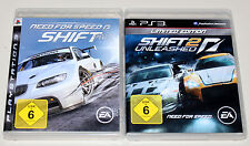 2 giochi ps3 Bundle-NEED FOR SPEED SHIFT 1 & Shift 2 UNLEASHED LIMITED EDITION