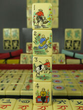 Super Rare 1920's Mahjong Mah Jongg Set French Ivory Two Tone ~ Chinese Games Co