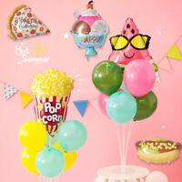 Cartoon Burger Hot Dog Shape Aluminum Foil Balloon Birthday Party Decor  HOT