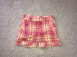 Nike Golf Girls Size Large Youth Plaid Shorts 10