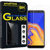 """3 Films Verre Trempe Protecteur Écran Samsung Galaxy J6+/ J6 Plus (2018) 6.0"""""""