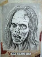 Zombie #3 The Walking Dead Season 8 Sketch Card Neil Camera Topps 1/1
