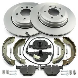 Brake Discs + Brake Pads + Wk + Hand Brake Rear BMW 5 5er E60 6 6er E63 E64