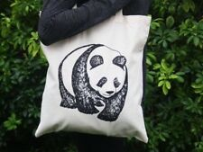 ANIMAL TOTE BAG Hand Drawn Black Print