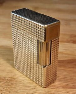 S.T. DUPONT Accendino Placcato Argento Linea 1 Small Silver Lighter VINTAGE