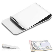Stainless Steel Brushed Metal Silver Money Cash Note Thin Holder Clip Wallet New