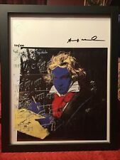 Andy Warhol 1987 Original Lithograph Hand Signed with COA New Frame