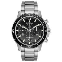 Bulova Men's Quartz Marine Star Chronograph Date Calendar 45mm Watch 96B272