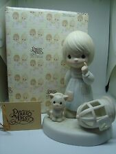 """PRECIOUS MOMENTS Figurine """"THE LORD GIVETH AND THE LORD TAKETH AWAY"""" A Must!"""