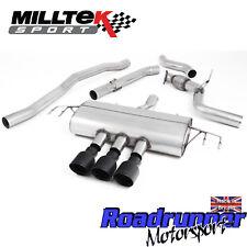 """Milltek Civic Type R FK8 Cat Back Exhaust 3"""" RACE Non Res Black GT-100 SSXHO251"""