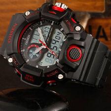 OHSEN Mens Military Army G Style Red Case Alarm Digital Shock Quartz Wrist Watch