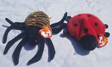 TY BEANIE BABIES WHOLESALE SET LOT of 2 Ladybug Spider COLLECTION  VINTAGE #3&4