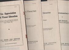 BFI. The Film Director/Frend. As a visual art/Pearson. Documentary/Alexander...