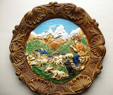 décoration murale assiette ancienne bois travail artisanal fait main en France