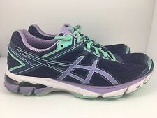 ASICS GT-1000 4 Women US 10 Purple + Blue Athletic Running Shoes Trainers