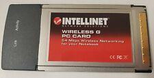 Intellinet Wireless-G Pcmcia Wifi Laptop Card, 524544 Win98/WinMe/Win2k/WinXp