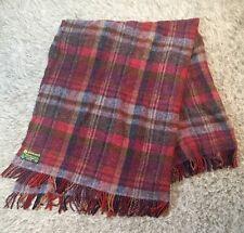 Vtg John Hanly & Co. Woven In Ireland Pure Wool Afghan Blanket Throw Plaid