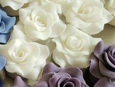 Zuckerrosen Zuckerblumen  Tortendekoration 20 Rosen in weiß