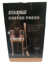 STARNUO French Press Coffee Maker,34 Ounce,1.0 Liter,18/10 Stainless