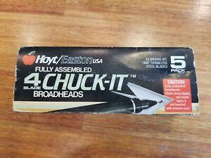 Hoyt/Easton USA 4 Blade Chuck-it Broadheads 5 Pk.