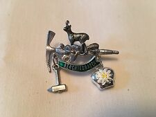 Vintage German Germany Berchtesgaden Animal Tool Souvenir Travel Hat Pin