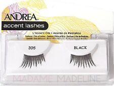 .6 Pairs Andrea Modlash Accent 305 False Eyelashes Strip Lashes Black 240217