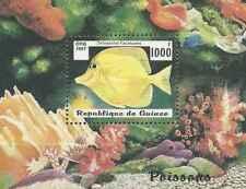 Timbre Poissons Guinée BF122 ** année 1997 lot 23292