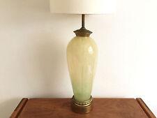 ITALIAN GLASS LAMP LAMP MID CENTURY MODERN MURANO CELADON FROST EAMES ERA