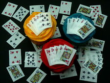 PRE-CUT FULL DECK PLAYING CARDS ALL SUITS EDIBLE CAKE RICE WAFER PAPER TOPPERS