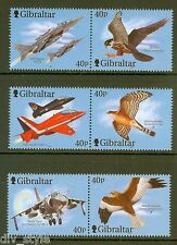 Fighter Planes and Raptors set of 6 mnh stamps 2001 Gibraltar #887-9