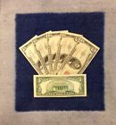 ?$5 Five Dollar Red Seal Lincoln Dollars ?Red Certificate Old Money?1953 1963?