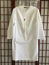 DAMIR DOMA STRETCH COTTON DRESS OFF WHITE SZ 36