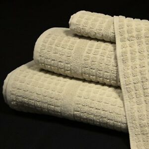 Hotel/Spa/Gym 100% Cotton Waffle 480gsm Towels Natural Colour