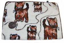 LOVELY 100% Merino Wool Blanket Size 100 x 140 cm NEW  Cats Perfect for GIFT !