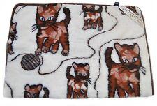 ADORABLE 100% Laine Mérinos Couverture Bébé 100 x 140 chats de cm