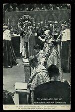 Royalty CORONATION Queen Elizabeth Communion 1953 Unused PPC