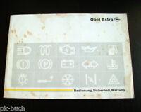 Manual de Instrucciones Opel Astra F Stand Enero 1992