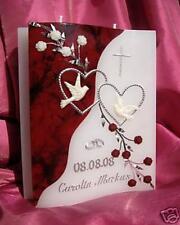 Hochzeitskerze welle 200/150/40 Mm Inkl. Beschriftung H-01