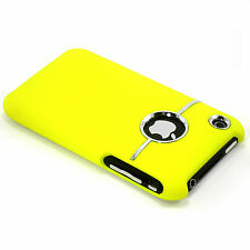 New Deluxe Yellow Snap-on Hard Case Cover With Chrome Ring For iPhone 3 3G 3GS