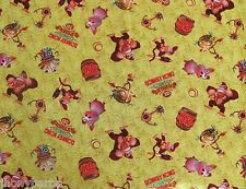 NINTENDO DONKEY KONG COUNTRY 3D BANANAS on 100% COTTON FABRIC Priced By The YARD