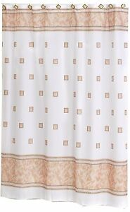 "Carnation Home Fashions ""Windsor"" Fabric shower curtain 70""x72"" CAR-FSC-W/08"
