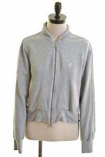 ADIDAS Womens Tracksuit Top Jacket UK 16 Large Grey Cotton Vintage FR13