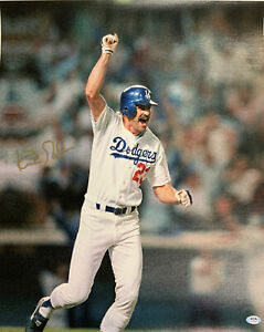 KIRK GIBSON DODGERS 1988 WORLD SERIES CHAMPION SIGNED 20X24 CANVAS PSA AI33547