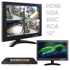 TV TELEVISORE MONITOR LCD 12'' POLLICI TFT VIDEOSORVEGLIANZA VGA BNC HDMI RCA