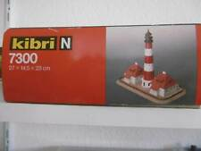 """Kibri 7300 Leuchtturm """" Westerheversand"""" mit Dienstgebäude und Geländeteil,N,oVP"""